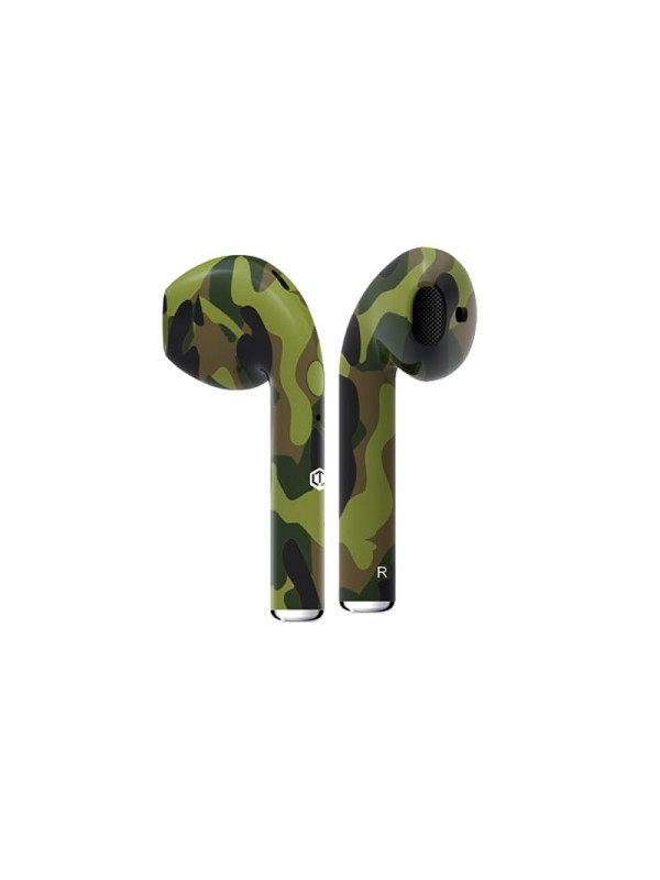 Famous Plugs EarPods Premium Auto Pairing Wireless Earphones Camo