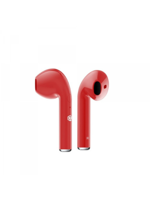 Famous Plugs EarPods Premium Auto Pairing Wireless Earphones Red